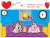 Cartoon: Love around the Clock (small) by cartoonharry tagged love,clock