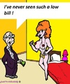 Cartoon: Low Bill (small) by cartoonharry tagged bill,low,cartoon,cartoonist,cartoonharry,dutch,pay,toon,toons,toonpool