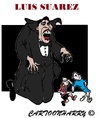 Cartoon: Luis Suarez (small) by cartoonharry tagged vampire,vampier,luissuarez,luis,suarez,soccer,holland,england,cartoons,cartoonists,cartoonisten,caricatures,karikaturen,cartoonharry,dutch,toonpool