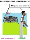 Cartoon: Michelle Obama (small) by cartoonharry tagged usa,whitehouse,michelle,obama,desserts,banned,cartoonharry