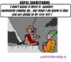 Cartoon: Nepal Snowstorms (small) by cartoonharry tagged nepal,snowstorms,disaster,nature