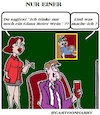 Cartoon: Nur Ein (small) by cartoonharry tagged einer,cartoonharry