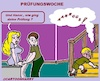 Cartoon: Prüfungswoche (small) by cartoonharry tagged schule,kind,familie,prüfung