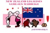 Cartoon: Same-Sex Marriage (small) by cartoonharry tagged newzealand,wellington,gaymarriage,samesex,cartoons,cartoonists,cartoonharry,dutch,toonpool