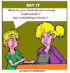 Cartoon: Say It (small) by cartoonharry tagged cartoonharry