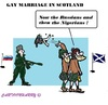 Cartoon: Scottish Gays (small) by cartoonharry tagged scotland,russia,nigeria,marriage,gay