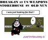 Cartoon: The Break in Nun (small) by cartoonharry tagged usa,oakbreak,break,nun,weapons,cartoons,cartoonharry,dutch,toonpool