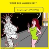 Cartoon: Wort 2017 (small) by cartoonharry tagged appunfall,2017