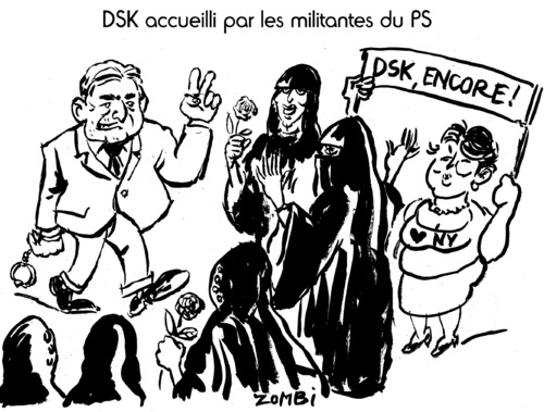 Cartoon: Le Retour de DSK (medium) by Zombi tagged dsk,dominique,strauss,kahn