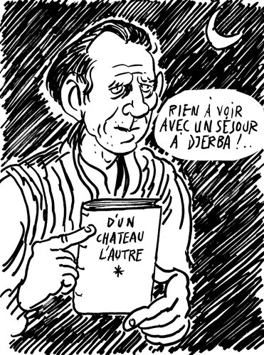 Cartoon: Louis Ferdinand Celine (medium) by Zombi tagged cartoon,portrait,louis,ferdinand,celine