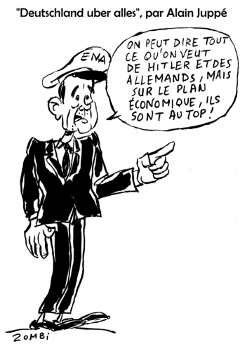 Cartoon: The French who Loves Germany (medium) by Zombi tagged alain,juppe,germany,germanophobie,politics