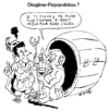 Cartoon: Papandreou as Diogenes? (small) by Zombi tagged george,papandreou,nicolas,sarkozy,diogenes,europe,europa,greece,france,french