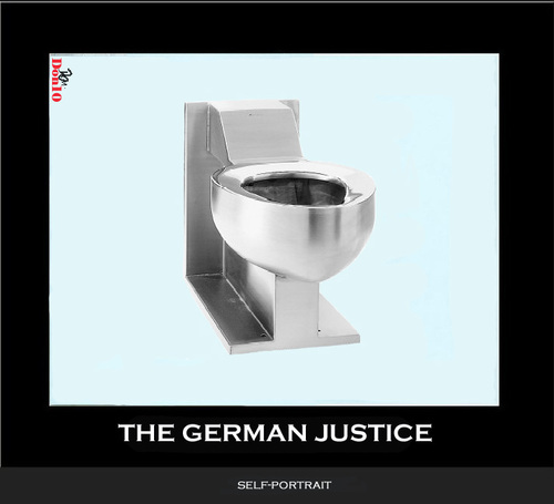 Cartoon: The German Justice (medium) by Vanessa tagged justice,germany,judges,toilet
