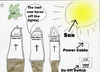 Cartoon: The last one turns off theLights (small) by Vanessa tagged sun,licht,friedhof,starkstrom,power,light
