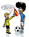 Cartoon: Fellaini Offside (small) by roundheadillustration tagged football,soccer,everton,belgium