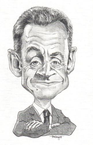 Cartoon: Sarkozy Caricature (medium) by hualpen tagged sarkozy