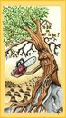 Cartoon: TO BE OR NOT TO BE (small) by joschoo tagged enviroment deforestation nature death life being pollution rain forest