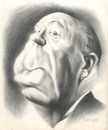 Cartoon: Alfred Hitchcock (small) by David Pugliese tagged alfred,hithcock,caricature,pencil,drawing