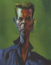 Cartoon: David Bowie (small) by David Pugliese tagged david,bowie,music,caricature,painting,acrylic