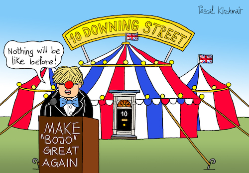 Cartoon: 10 Downing Street (medium) by Pascal Kirchmair tagged conservative,party,tories,tory,torys,conservatives,boris,johnson,10,downing,street,bojos,flying,circus,bojo,humor,humour,gag,umorismo,umore,spirito,lustig,political,cartoon,caricature,politische,karikatur,pascal,kirchmair,illustration,drawing,zeichnung,ilustracion,dibujo,desenho,ink,disegno,ilustracao,illustrazione,illustratie,dessin,de,presse,du,jour,art,of,the,day,tekening,teckning,cartum,vineta,comica,vignetta,caricatura,esprit,witz,prime,minister,great,little,britain,england,united,kingdom,politics,politique,politik,politica,conservative,party,tories,tory,torys,conservatives,boris,johnson,10,downing,street,bojos,flying,circus,bojo,humor,humour,gag,umorismo,umore,spirito,lustig,political,cartoon,caricature,politische,karikatur,pascal,kirchmair,illustration,drawing,zeichnung,ilustracion,dibujo,desenho,ink,disegno,ilustracao,illustrazione,illustratie,dessin,de,presse,du,jour,art,of,the,day,tekening,teckning,cartum,vineta,comica,vignetta,caricatura,esprit,witz,prime,minister,great,little,britain,england,united,kingdom,politics,politique,politik,politica