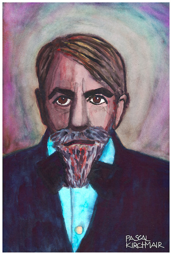Cartoon: Arthur Schnitzler (medium) by Pascal Kirchmair tagged arthur,schnitzler,wiener,moderne,portrait,retrato,ritratto,caricature,karikatur,zeichnung,drawing,arthur,schnitzler,wiener,moderne,portrait,retrato,ritratto,caricature,karikatur,zeichnung,drawing