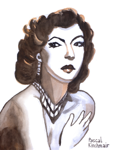 Cartoon: Ava Gardner (medium) by Pascal Kirchmair tagged ava,gardner,caricature,karikatur,portrait,cartoon,dessin,vignetta,hollywood,star,diva,grande,dame,fifties,golden,age,ava,gardner,caricature,karikatur,portrait,cartoon,dessin,vignetta,hollywood,star,diva,grande,dame,fifties,golden,age