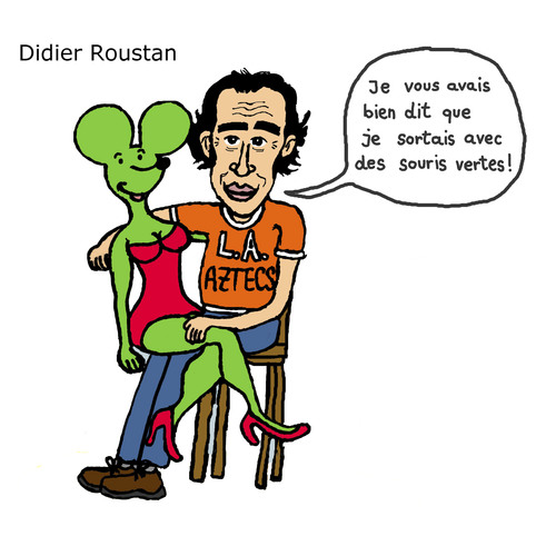 Cartoon: Didier Roustan (medium) by Pascal Kirchmair tagged didier,uncle,roustan,from,france,foot,citoyen,blog,souris,verte,kicktv,journaliste,sportif,sport,football,lequipe