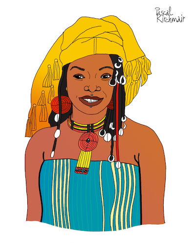 Cartoon: Fatoumata Diawara (medium) by Pascal Kirchmair tagged fatoumata,diawara,illustration,drawing,zeichnung,pascal,kirchmair,cartoon,caricature,karikatur,ilustracion,dibujo,desenho,ink,disegno,ilustracao,illustrazione,illustratie,dessin,de,presse,du,jour,art,of,the,day,tekening,teckning,cartum,vineta,comica,vignetta,caricatura,portrait,retrato,ritratto,portret,kunst,singer,songwriter,music,musician,musik,musikerin,mali,ivory,coast,cote,ivoire,elfenbeinküste,porträt,exotic,exotisch,exotik,exotique,exotica,exotico,esotico,esotica,france,frankreich,fatoumata,diawara,illustration,drawing,zeichnung,pascal,kirchmair,cartoon,caricature,karikatur,ilustracion,dibujo,desenho,ink,disegno,ilustracao,illustrazione,illustratie,dessin,de,presse,du,jour,art,of,the,day,tekening,teckning,cartum,vineta,comica,vignetta,caricatura,portrait,retrato,ritratto,portret,kunst,singer,songwriter,music,musician,musik,musikerin,mali,ivory,coast,cote,ivoire,elfenbeinküste,porträt,exotic,exotisch,exotik,exotique,exotica,exotico,esotico,esotica,france,frankreich