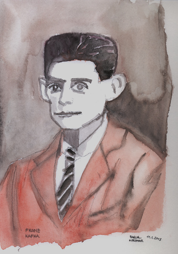 Cartoon: Franz Kafka (medium) by Pascal Kirchmair tagged roman,ecrivain,author,writer,austria,prag,process,schloss,verschollene,franz,kafka,schriftsteller,portrait,karikatur,caricature