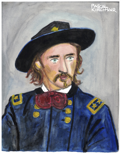 Cartoon: General Custer (medium) by Pascal Kirchmair tagged general,george,armstrong,custer,little,bighorn,black,hills,portrait,retrato,ritratto,caricature,karikatur,vignetta,dessin,zeichnung,drawing,illustration,dibujo,desenho,general,george,armstrong,custer,little,bighorn,black,hills,portrait,retrato,ritratto,caricature,karikatur,vignetta,dessin,zeichnung,drawing,illustration,dibujo,desenho