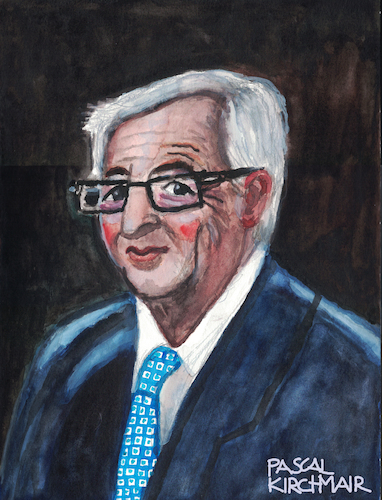 Cartoon: Jean-Claude Juncker (medium) by Pascal Kirchmair tagged jean,claude,juncker,caricature,portrait,retrato,karikatur,ritratto,porträt,pascal,kirchmair,dibujo,desenho,disegno,eu,ue,luxembourg,president,präsident,europe,europa,dessin,drawing,zeichnung,portret,cartum,cartoon,watercolour,aquarell,painting,peinture,pintura,dipinto,cuadro,quadro,jean,claude,juncker,caricature,portrait,retrato,karikatur,ritratto,porträt,pascal,kirchmair,dibujo,desenho,disegno,eu,ue,luxembourg,president,präsident,europe,europa,dessin,drawing,zeichnung,portret,cartum,cartoon,watercolour,aquarell,painting,peinture,pintura,dipinto,cuadro,quadro