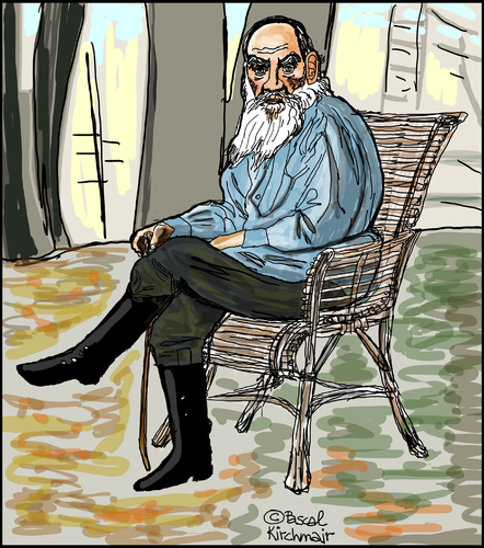 Cartoon: Leo Tolstoi (medium) by Pascal Kirchmair tagged leo,lew,tolstoi,tolstoy,caricature,karikatur,portrait,dessin,drawing,zeichnung,russia,russie,rußland,leo,lew,tolstoi,tolstoy,caricature,karikatur,portrait,dessin,drawing,zeichnung,russia,russie,rußland