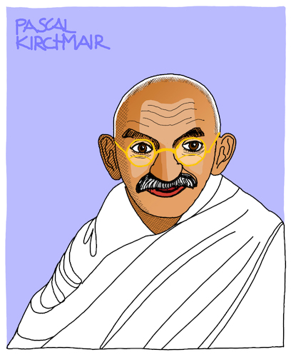 Cartoon: Mahatma Gandhi (medium) by Pascal Kirchmair tagged desenho,dessin,disegno,zeichnung,porträt,mahatma,gandhi,cartoon,caricature,karikatur,dibujo,drawing,retrato,portrait,pascal,kirchmair,vignetta,ritratto,india,indien,asket,pazifistischer,widerstand,nonviolent,civil,pacifist,desenho,dessin,disegno,zeichnung,porträt,mahatma,gandhi,cartoon,caricature,karikatur,dibujo,drawing,retrato,portrait,pascal,kirchmair,vignetta,ritratto,india,indien,asket,pazifistischer,widerstand,nonviolent,civil,pacifist