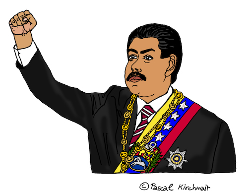 Cartoon: Nicolas Maduro (medium) by Pascal Kirchmair tagged nicolas,maduro,cartoon,dibujo,desenho,dessin,zeichnung,caricatura,karikatur,drawing,venezuela,caracas,politician,politico,presidente,politicien,nicolas,maduro,cartoon,dibujo,desenho,dessin,zeichnung,caricatura,karikatur,drawing,venezuela,caracas,politician,politico,presidente,politicien