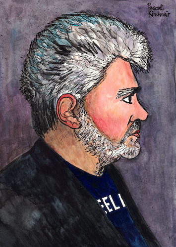 Cartoon: Pedro Almodovar (medium) by Pascal Kirchmair tagged pedro,almodovar,portrait,retrato,caricatura,karikatur,dibujo,desenho,drawing,zeichnung,pascal,kirchmair,dessin,ritratto,disegno,caricature,cartoon,ilustracion,illustration,illustrazione,ilustracao,illustratie,tekening,teckning,cartum,vignetta,vineta,comica,pedro,almodovar,portrait,retrato,caricatura,karikatur,dibujo,desenho,drawing,zeichnung,pascal,kirchmair,dessin,ritratto,disegno,caricature,cartoon,ilustracion,illustration,illustrazione,ilustracao,illustratie,tekening,teckning,cartum,vignetta,vineta,comica