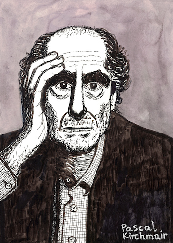 Cartoon: PHILIP ROTH (medium) by Pascal Kirchmair tagged philip,roth,portrait,retrato,dibujo,dessin,drawing,ritratto,disegno,illustration,pascal,kirchmair,caricature,usa,newark,new,jersey,ilustracao,ilustracion,portret,cartum,desenho,karikatur,cartoon,philip,roth,portrait,retrato,dibujo,dessin,drawing,ritratto,disegno,illustration,pascal,kirchmair,caricature,usa,newark,new,jersey,ilustracao,ilustracion,portret,cartum,desenho,karikatur,cartoon