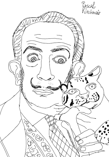 Cartoon: Salvador Dali with ocelot (medium) by Pascal Kirchmair tagged ocelot,ocelote,ozelot,salvador,dali,marquis,marques,de,pubol,cartoon,caricature,karikatur,drawing,zeichnung,illustration,illustrazione,pascal,kirchmair,ilustracion,portrait,retrato,dibujo,desenho,ritratto,disegno,ilustracao,illustratie,dessin,du,jour,art,of,the,day,tekening,teckning,cartum,vineta,comica,vignetta,caricatura,artist,artista,artiste,kunst,künstler,maler,painter,peintre,pintor,pittore,wacom,cintiq,21,ux,digital,ocelot,ocelote,ozelot,salvador,dali,marquis,marques,de,pubol,cartoon,caricature,karikatur,drawing,zeichnung,illustration,illustrazione,pascal,kirchmair,ilustracion,portrait,retrato,dibujo,desenho,ritratto,disegno,ilustracao,illustratie,dessin,du,jour,art,of,the,day,tekening,teckning,cartum,vineta,comica,vignetta,caricatura,artist,artista,artiste,kunst,künstler,maler,painter,peintre,pintor,pittore,wacom,cintiq,21,ux,digital