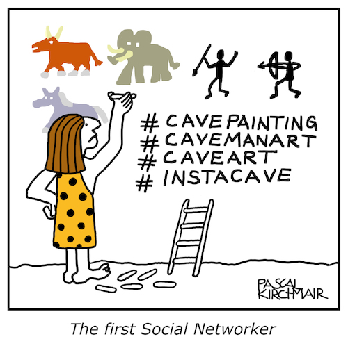 Cartoon: The first social Networker (medium) by Pascal Kirchmair tagged social,network,networking,networker,caveman,cave,art,painting,caricature,cartoon,vignetta,karikatur,humor,humour,steinzeit,höhlenmalerei,lascaux,dessin,dibujo,drawing,illustration,zeichnung,ilustracion,pascal,kirchmair,portrait,retrato,ritratto,desenho,disegno,ilustracao,illustrazione,illustratie,du,jour,arte,of,the,day,tekening,teckning,cartum,vineta,comica,caricatura,immagine,image,bild,imagen,imagem,ink,tusche,inktober,homme,des,cavernes,troglodita,hombre,de,las,cavernas,cavernicolo,social,network,networking,networker,caveman,cave,art,painting,caricature,cartoon,vignetta,karikatur,humor,humour,steinzeit,höhlenmalerei,lascaux,dessin,dibujo,drawing,illustration,zeichnung,ilustracion,pascal,kirchmair,portrait,retrato,ritratto,desenho,disegno,ilustracao,illustrazione,illustratie,du,jour,arte,of,the,day,tekening,teckning,cartum,vineta,comica,caricatura,immagine,image,bild,imagen,imagem,ink,tusche,inktober,homme,des,cavernes,troglodita,hombre,de,las,cavernas,cavernicolo