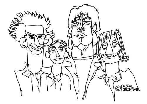 Cartoon: The Rolling Stones (medium) by Pascal Kirchmair tagged keith,music,pop,roll,rock,bild,drawing,zeichnung,illustration,dessin,portrait,cartoon,karikatur,caricature,stones,rolling,richards,charlie,watts,mick,jagger,ron,wood,rolling,stones,caricature,karikatur,cartoon,portrait,dessin,illustration,zeichnung,drawing,bild,rock,roll,pop,music