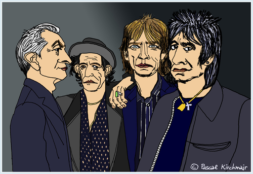 Cartoon: The Rolling Stones (medium) by Pascal Kirchmair tagged rolling,stones,mick,jagger,keith,richards,ronnie,wood,charlie,watts,cartoon,caricature,karikatur,portraits,dibujo,retratos,zeichnung,illustration,drawing,dessin,desenho,disegno,rolling,stones,mick,jagger,keith,richards,ronnie,wood,charlie,watts,cartoon,caricature,karikatur,portraits,dibujo,retratos,zeichnung,illustration,drawing,dessin,desenho,disegno