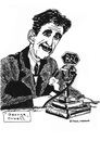 Cartoon: George Orwell (small) by Pascal Kirchmair tagged george orwell bbc animal farm 1984 big brother