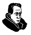 Cartoon: Albert Camus (small) by Pascal Kirchmair tagged albert camus writer die pest prix nobel nobelpreis literatur literature
