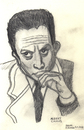 Cartoon: Albert Camus (small) by Pascal Kirchmair tagged ecrivain philosophe france frankreich fremde etranger albert camus litterature literatur nobelpreis prix nobel schriftsteller