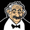 Cartoon: Albert Einstein (small) by Pascal Kirchmair tagged fisico physics teoria della relativita theorie de la relativite relatividad theory of relativity restreinte albert einstein relativitaetstheorie mc2 relative physiker physicien