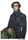 Cartoon: Alexis de Tocqueville (small) by Pascal Kirchmair tagged freiheit gleichheit demokratie soziologie effekt französische revolution regime umsturz politiker politikwissenschaft reise usa gesetz charles alexis henri maurice clerel de tocqueville etats unis vereinigte staaten slavery sklaverei esclavage