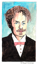 Cartoon: August Strindberg (small) by Pascal Kirchmair tagged johan august strindberg portrait retrato drawing zeichnung tekening illustration pascal kirchmair portret caricature karikatur ritratto cartum cartoon ilustracion ilustracao