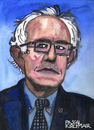 Cartoon: Bernie Sanders (small) by Pascal Kirchmair tagged bernie,sanders,karikatur,caricature,portrait,radical,idea,cartoon,feel,the,bern,usa,elections,primaries,caucus,watercolour,aquarell,democrats,politiker