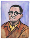 Cartoon: Bert Brecht (small) by Pascal Kirchmair tagged bertolt bert brecht portrait retrato ritratto dramatiker lyriker zeichnung drawing mutter courage dreigroschenoper dessin illustration caricature karikatur cartoon vignetta dibujo desenho disegno aquarell watercolour