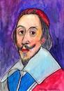 Cartoon: Cardinal Richelieu (small) by Pascal Kirchmair tagged cardinal duc de richelieu cartoon portrait retrato drawing dessin zeichnung illustration caricature karikatur france frankreich portret porträt dibujo desenho disegno ritratto pascal kirchmair