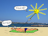 Cartoon: Der Sonnenstich (small) by Pascal Kirchmair tagged calenture sunstroke insolation sonnenstich coup de soleil bambou cartoon dessin humoristique humor humour